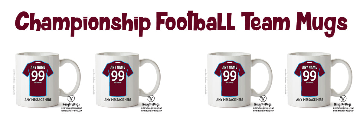 CHAMPIONSHIP FOOTBALL TEAM MUGS