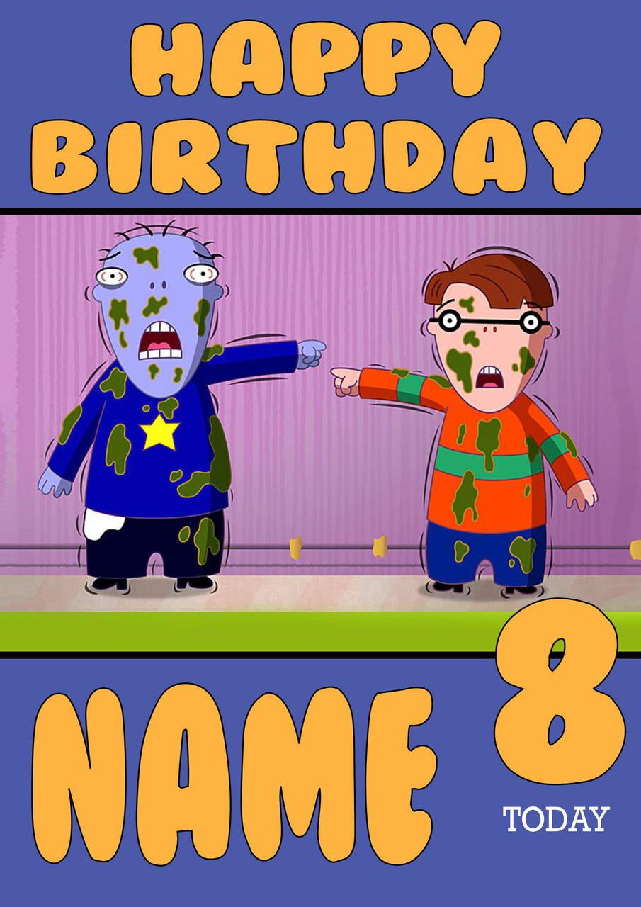 THEME INSPIRED Kids Adult Personalised Birthday Card Cramp Twins