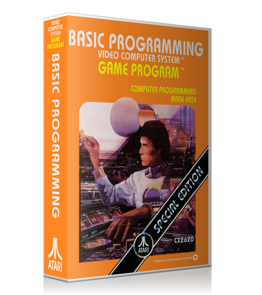 Basic Programming Atari 2600 Game Cover To Fit A UGC Style Replacement Game Case