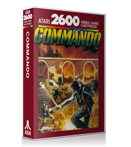 Commando Atari 2600 Game Cover To Fit A UGC Style Replacement Game Case