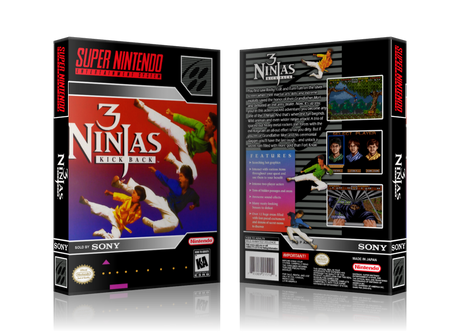 3 Ninjas Kick Back Replacement Nintendo 64 REPLACEMENT Game Case Or Cover