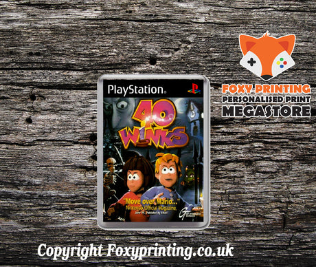 40 Winks Eu  - PS1 Playstation 1 Game Inspired Retro Gaming Magnet