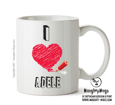 I Love ADELE Celebrity Mug Gift Office Mug Funny Humour