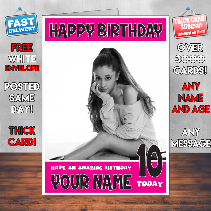 Arianna Grande 2 Bm Personalised Music Style Kids Adult Funny