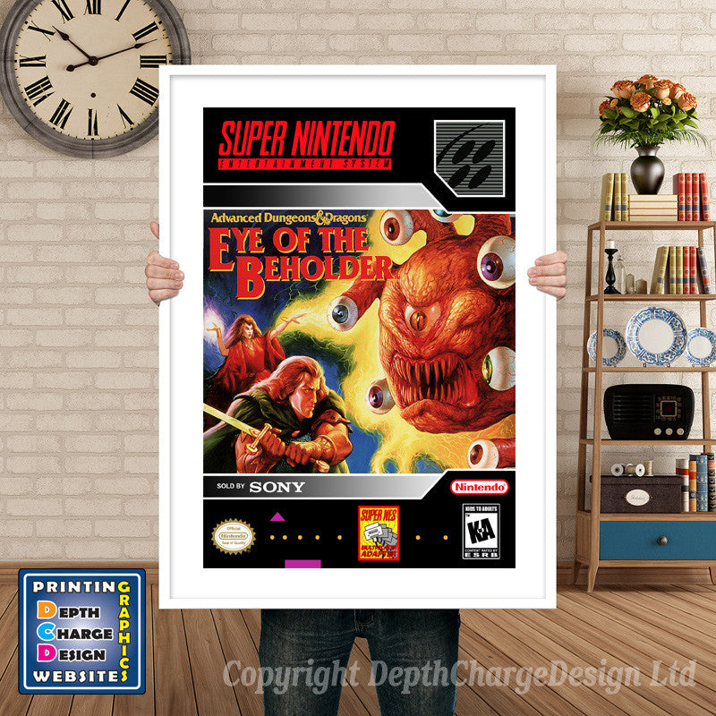 Advanced Dungeons And Dragons Eye Of The Beholder Super Nintendo