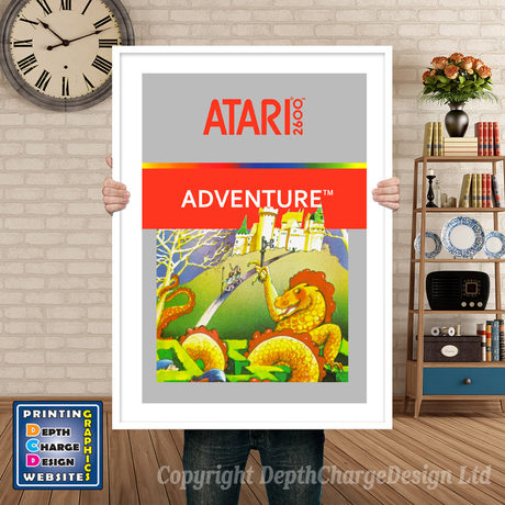 Adventure - Atari 2600 Inspired Retro Gaming Poster A4 A3 A2 Or A1