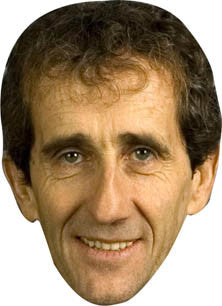 Alain Prost FORMULA 1 Celebrity Face Mask FANCY DRESS HEN BIRTHDAY PARTY FUN STAG DO HEN