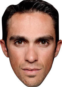 Alberto Contador Cycling Celebrity Face Mask FANCY DRESS HEN BIRTHDAY PARTY FUN STAG DO HEN