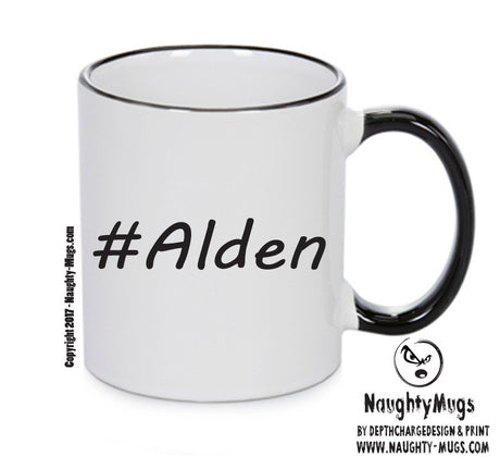 Personalised Your CUSTOM Name Alden Printed Mug Perfect Xmas Gift Office Funny Mug Cup