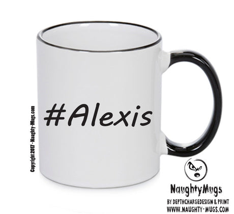 Personalised Your CUSTOM Name Alexis Printed Mug Perfect Xmas Gift Office Funny Mug Cup