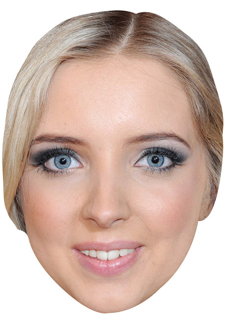 ALICE BARLOW JB - Hollyoaks Fancy Dress Cardboard Celebrity Party mask