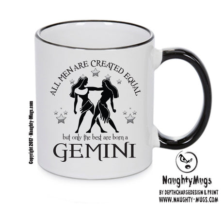 All Men Are Created Equal Gemini FUNNY Gift Office Mug Funny Humour