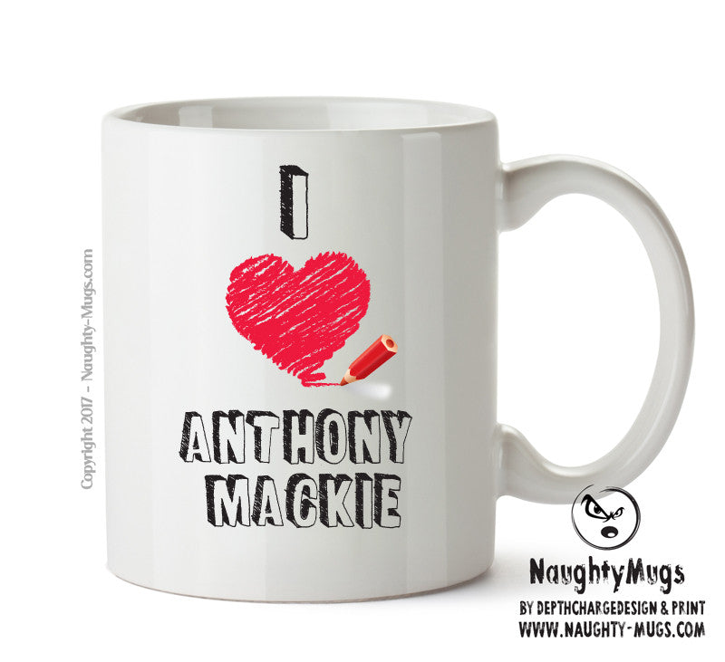 I Love Anthony Mackie Celebrity Mug Gift Office Mug Funny Humour