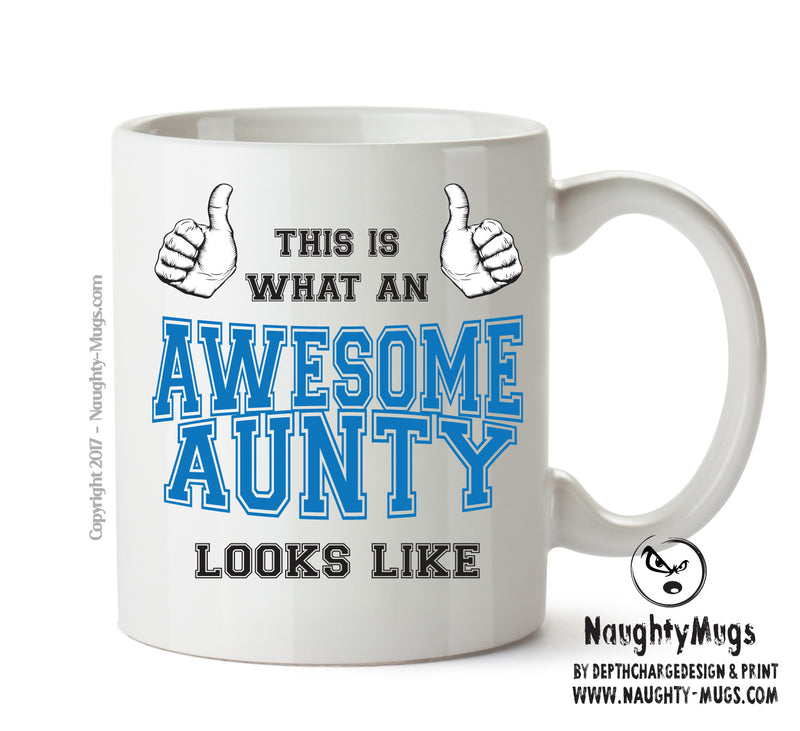 Awesome Aunty Office Mug FUNNY Gift Office Mug Funny Humour