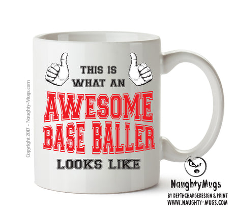 Awesome Baseballer Office Mug FUNNY Gift Office Mug Funny Humour