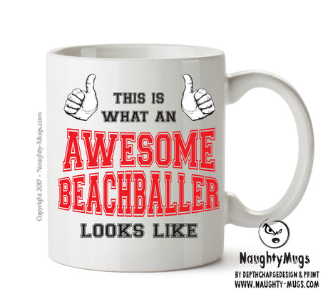 Awesome Beachballer Office Mug FUNNY Gift Office Mug Funny Humour