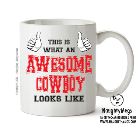 Awesome Cowboy Office Mug FUNNY Gift Office Mug Funny Humour
