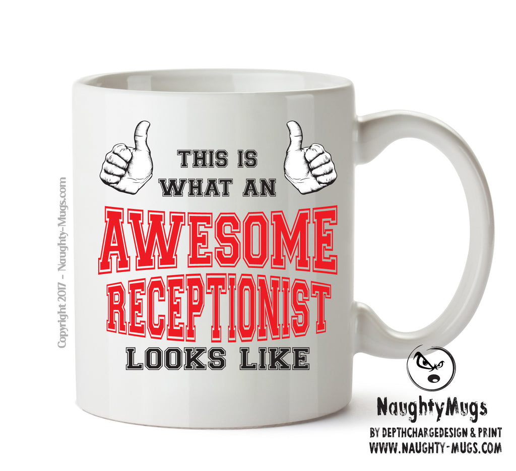 Awesome Receptionist Office Mug FUNNY Gift Office Mug Funny Humour