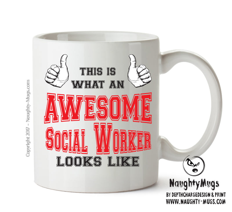 Awesome Social Worker Office Mug FUNNY Gift Office Mug Funny Humour