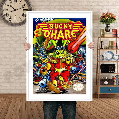 BUCKY O HARE Retro GAME INSPIRED THEME Nintendo NES Gaming A4 A3 A2 Or A1 Poster Art 84