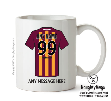 Bradford City INSPIRED Football Team Mug Personalised Birthday Age And Name
