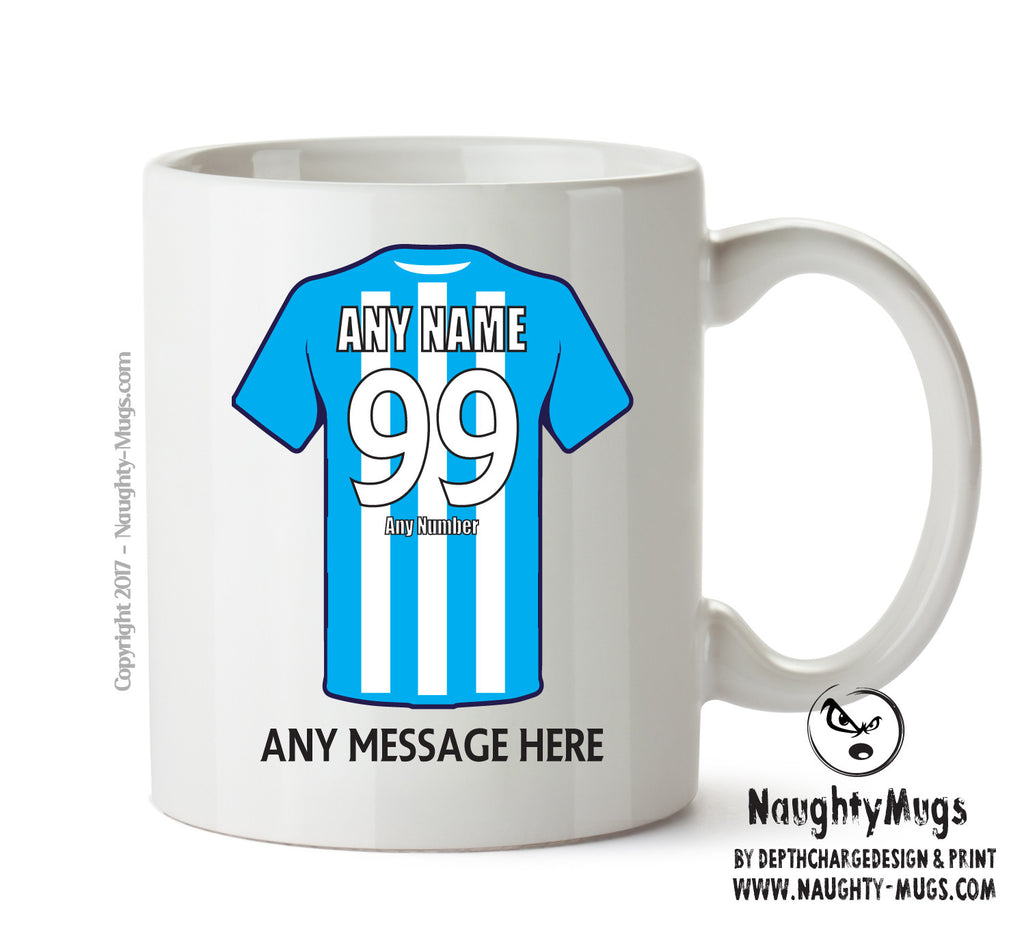 Brighton and Hove Albion Football Team Mug - Personalised Birthday Age and Name