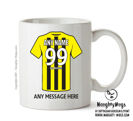 Burton Albion Football Team Mug - Personalised Birthday Age and Name