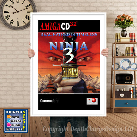LAST NINJA 3 Atari Inspired Retro Gaming Poster A4 A3 A2 Or A1