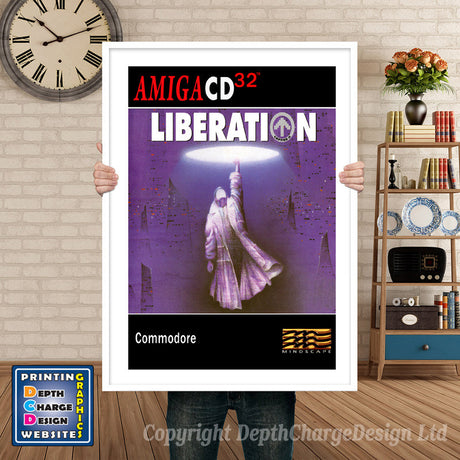 LIBERATION Atari Inspired Retro Gaming Poster A4 A3 A2 Or A1