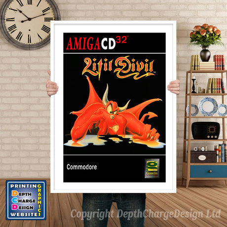 LITILDEVIL Atari Inspired Retro Gaming Poster A4 A3 A2 Or A1