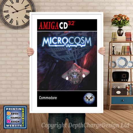 MICROCOSM Atari Inspired Retro Gaming Poster A4 A3 A2 Or A1
