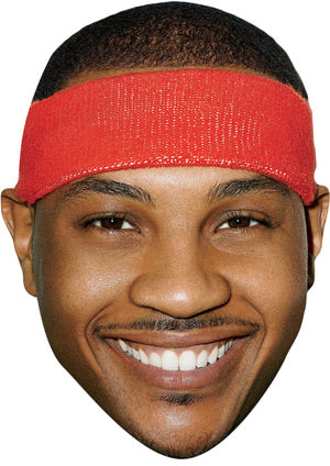 CARMELO ANTHONY JB - Basketball Star Fancy Dress Cardboard Celebrity Party Stag Birthday Idea Fancy Dress Face mask
