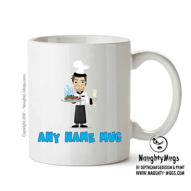 Personalised Male Chef Mug Occupational Mug Gift Office Mug Funny Humour