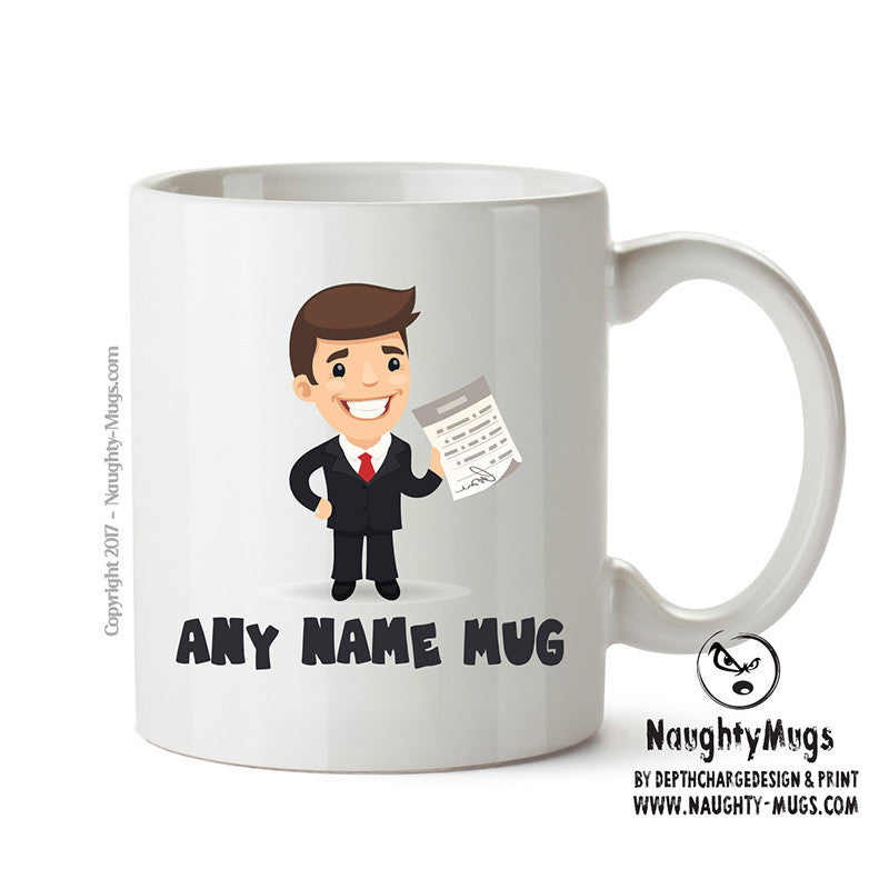 Personalised Male Life Insurance Broker Mug Occupational Mug Gift Office Mug Funny Humour