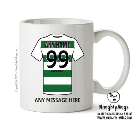 Celtic Football Team Mug Personalised Birthday Age And Name