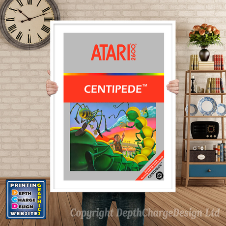 Centipede - Atari 2600 Inspired Retro Gaming Poster A4 A3 A2 Or A1