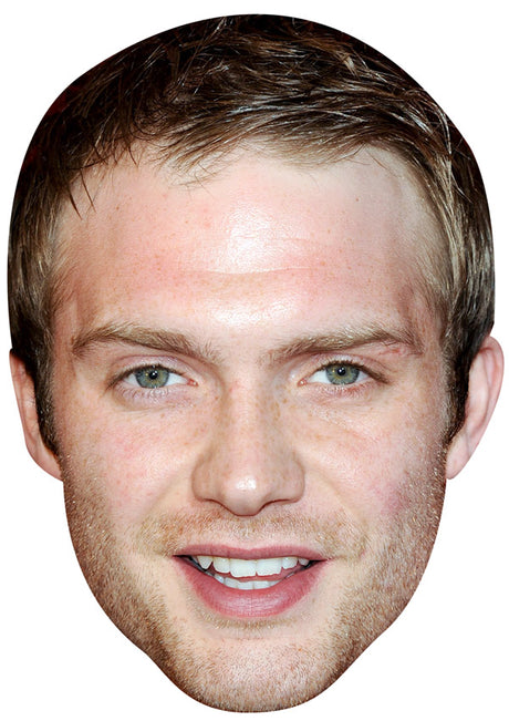CHRIS FOUNTAIN JB - Hollyoaks Fancy Dress Cardboard Celebrity Party mask