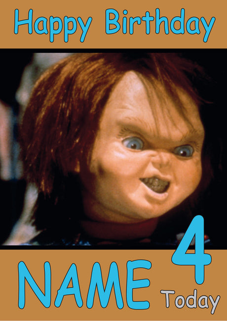 Chucky INSPIRED Adult Personalised Birthday Card Birthday Card