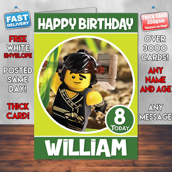 Cole The Lego Ninjago Movie Inspired Theme Personalised Kids ...