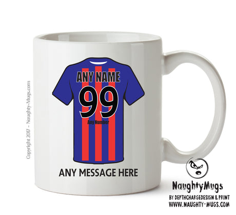 Crystal Palace Football Team Mug - Personalised Birthday Age and Name