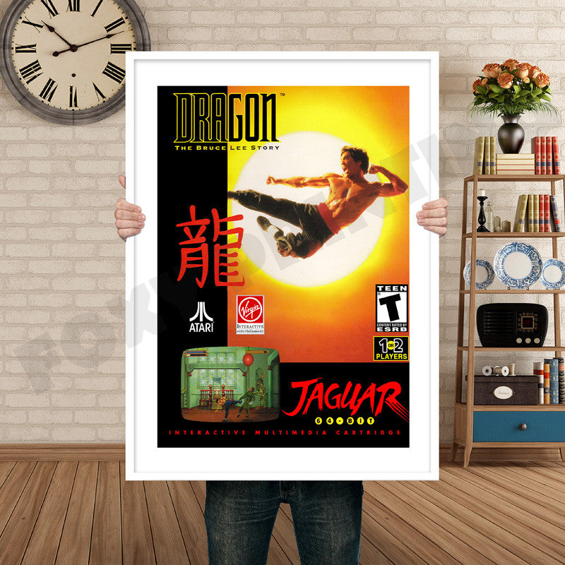 DRAGON BRUCE LEE STORY JAGUAR CD Retro GAME INSPIRED THEME Nintendo NES  Gaming A4 A3 A2 Or A1 Poster Art 117