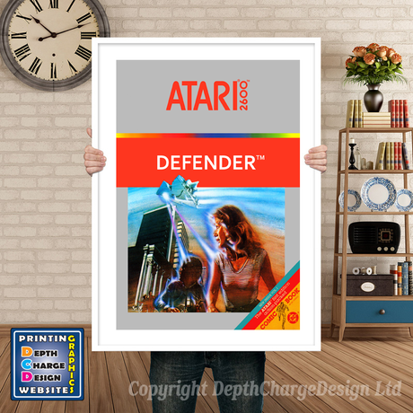 Defender - Atari 2600 Inspired Retro Gaming Poster A4 A3 A2 Or A1