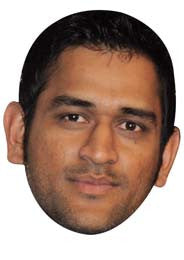 Mahendra Singh Dhoni CRICKET Celebrity Face Mask FANCY DRESS HEN BIRTHDAY PARTY FUN STAG DO HEN