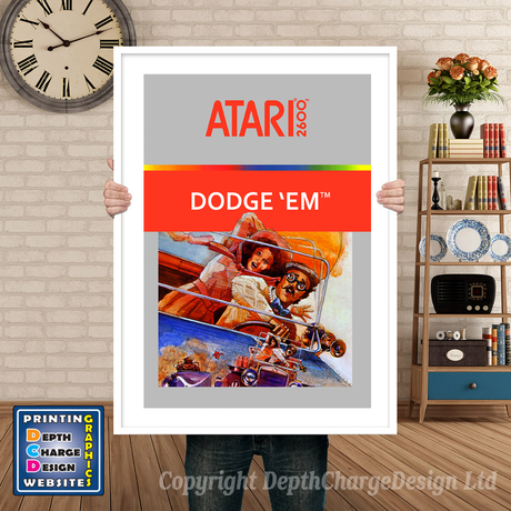 Dodgeem - Atari 2600 Inspired Retro Gaming Poster A4 A3 A2 Or A1