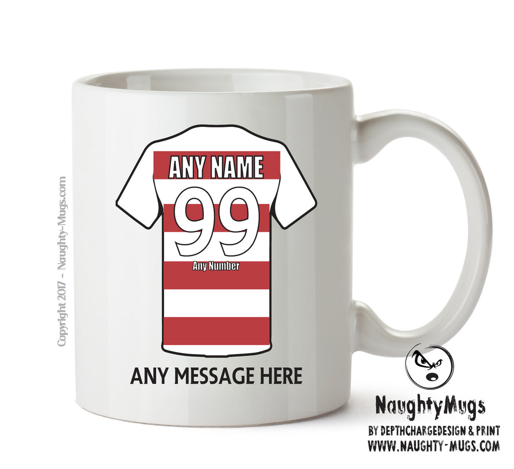 Doncaster Rovers INSPIRED Football Team Mug Personalised Birthday Age And Name