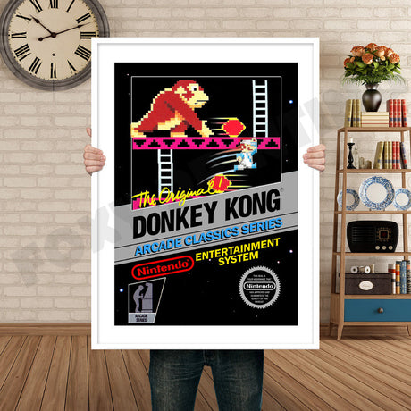 Donkey Kong Retro GAME INSPIRED THEME Nintendo NES Gaming A4 A3 A2 Or A1 Poster Art 199
