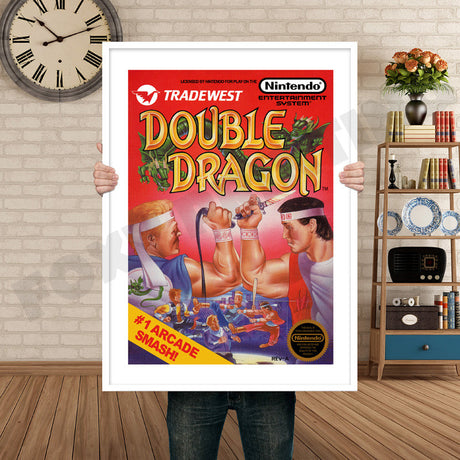 Double Dragon Retro GAME INSPIRED THEME Nintendo NES Gaming A4 A3 A2 Or A1 Poster Art 204