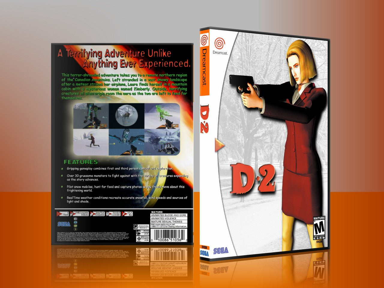 Sega Dreamcast Dc REPLACEMENT GAME CASE for D2