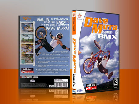 Sega Dreamcast Dc REPLACEMENT GAME CASE for Davemirrafreestylebmx
