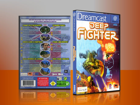 Sega Dreamcast Dc REPLACEMENT GAME CASE for Deepfighter Eu